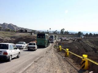 ترافیک نیمه سنگین در محور ایلام – مهران