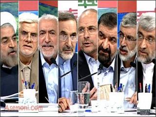 اولین مناظره تلویزیونی از نگاه 8 کاندیدا