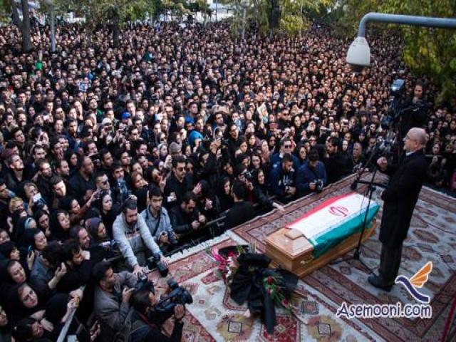 مراسم خاکسپاری مرتضی پاشایی + عکس ها