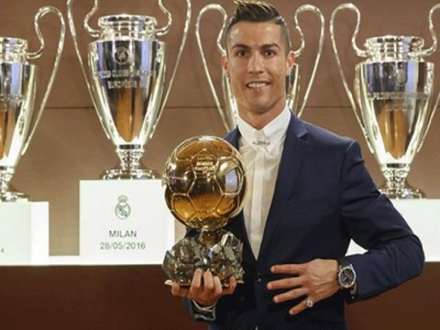 توپ طلای 2016 به رونالدو رسید/ ستاره پرتغالی در یک قدمی لیونل مسی