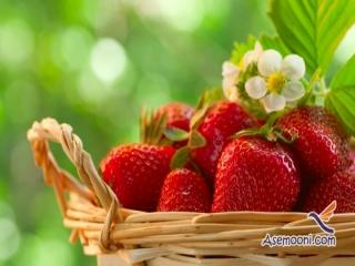 آموزش تزیین توت فرنگی به شکل گل