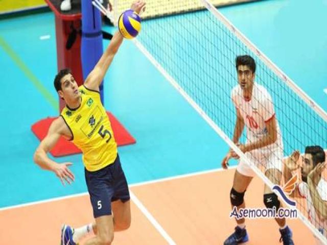 والیبال ایران یک امتیاز از برزیل گرفت