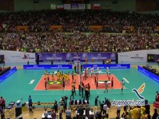 دومین برد تاریخی والیبال ایران برابر برزیل
