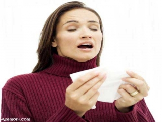 درمان عطسه و آبریزش بینی