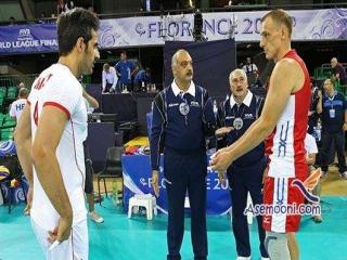 تیم والیبال روسیه به سختی از سد ایران گذشت