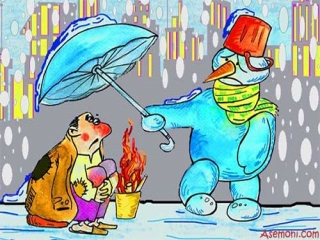 کاریکاتور زمستان
