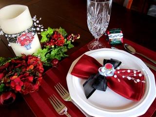 ایده های رمانتیک، برای تزیین میز روز عشق