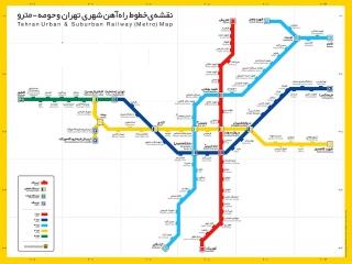 نقشه مترو تهران 99