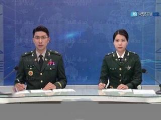 مجریان اخبار تلویزیون کره شمالی با یونیفرم نظامی خبر خواندند