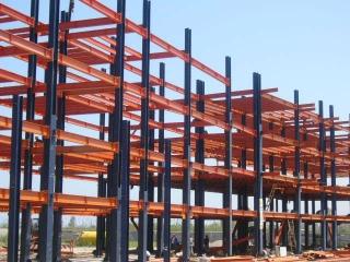 نصب اسکلت فلزی ساختمان