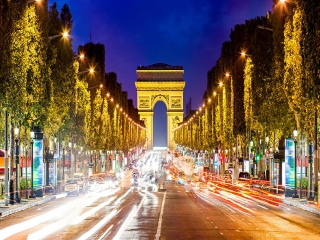 خیابان شانزلیزه پاریس فرانسه ، زیباترین خیابان جهان