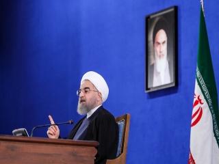 متن کامل سخنان روحانی در کنفرانس مطبوعاتی اول خرداد 96
