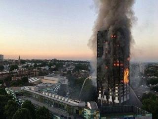 آتش سوزی مهیب در برج 27 طبقه لندن