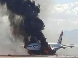 آتش گرفتن هواپیما هنگام بلند شدن از فرودگاه اهواز
