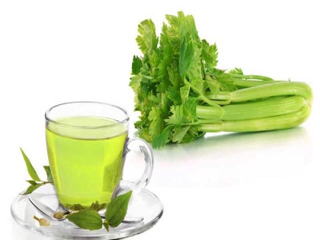 دمنوش چای سبز کرفس