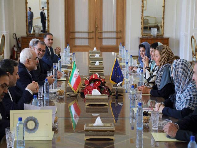 مذاکرات ظریف و موگرینی در تهران
