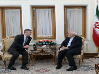 وزیر امور خارجه فرانسه با ظریف دیدار کرد