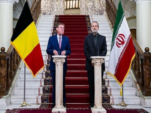 رؤسای مجالس ایران و بلژیک با یکدیگر دیدار کردند