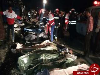 افزایش تعداد کشته شدگان حادثه واژگونی اتوبوس جاده سوادکوه