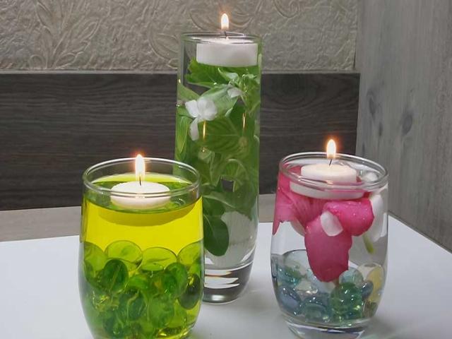 ساخت شمع رو آبی