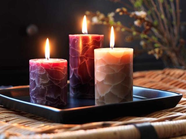 طرز ساخت شمع در خانه
