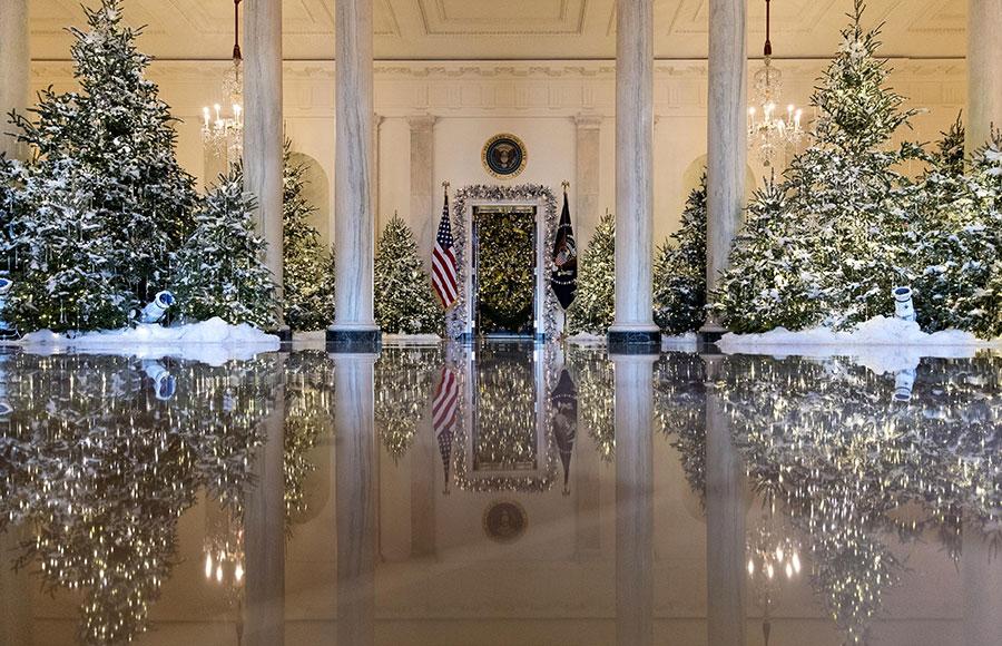 تزئین کاخ سفید برای کریسمس