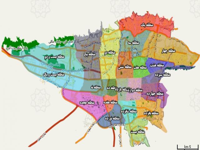 نقشه تخلیه امن اضطراری به تفکیک محلات شهر تهران منتشر شد.
