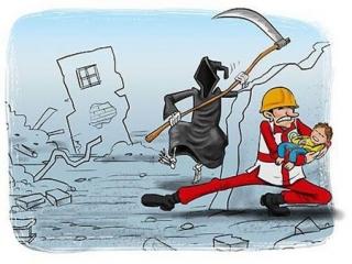 کاریکاتور مفهومی زلزله