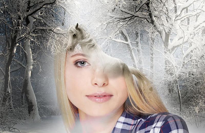 عکس پروفایل زمستانی برای دخترها-Winter profile picture for girls