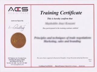گواهینامه آکادمی ACS انگلستان