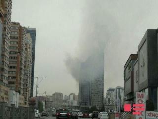 برج ترامپ در باکو آتش گرفت