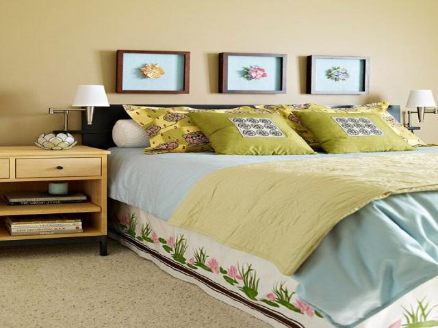 اتاق خواب بهاری و آرامش بخش برای شما