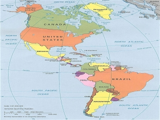 نقشه قاره آمریکا