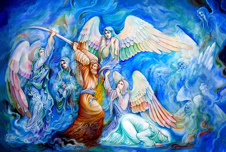 آسمونی - نقاشی شهادت امام علی توسط یوسف عبدی نژاد