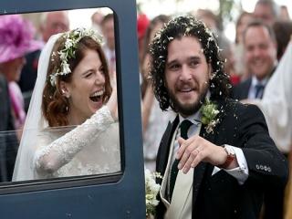کیت هرینگتون و رز لزلی دو بازیگر گیم آف ترونز ازدواج کردند + تصاویر عروسی