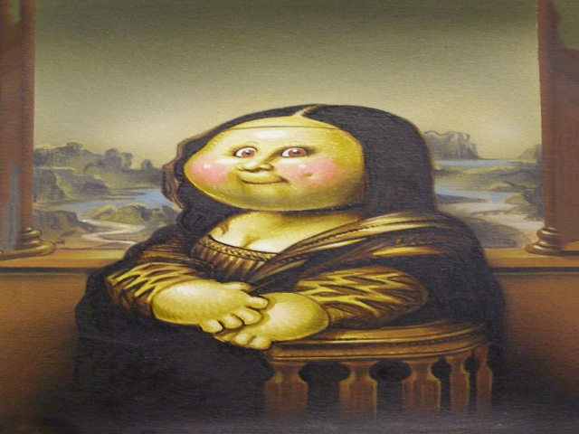 عکس های طنز از تابلو مونالیزا