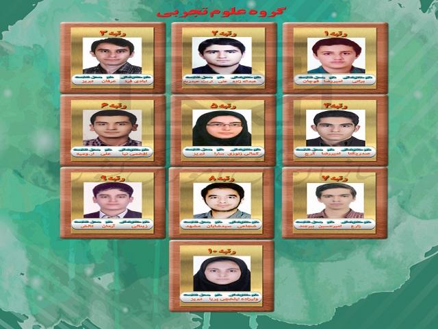 اسامی نفرات برتر کنکور سراسری 97 اعلام شد