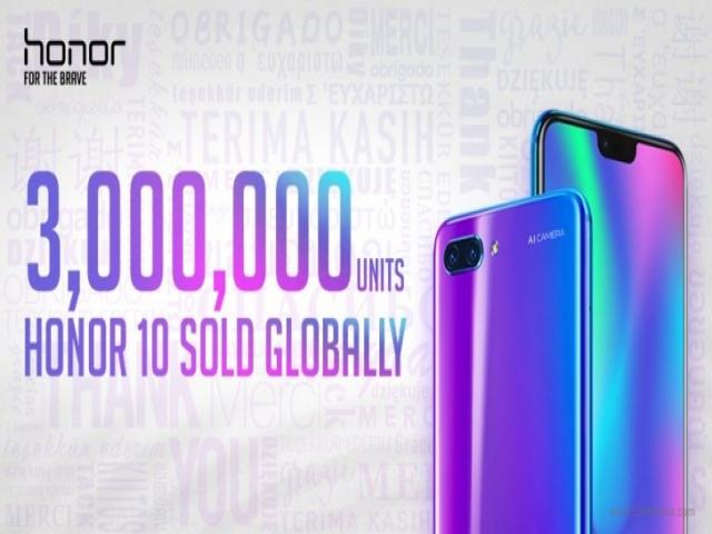هوآوی و فروش 3 میلیون گوشی هوشمند آنر 10