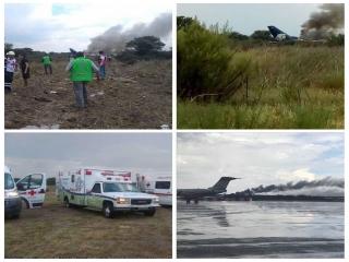 سقوط یک هواپیمای مسافربری مکزیک با 100 مسافر در دورانگو شمال مکزیک