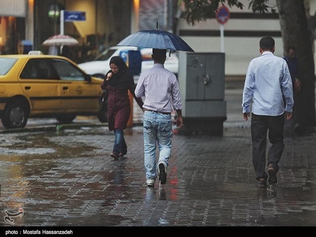 پیش بینی بارش باران در 8 استان