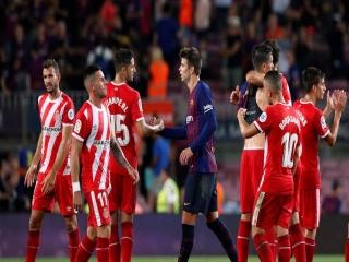 بارسلونا 2 - 2 خیرونا ؛ خیرونا بارسلونای 10 نفره را متوقف کرد