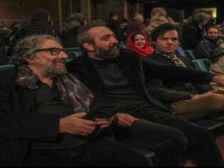 مسعود کیمیایی در اکران فیلم ویترین به کارگردانی عبدالرضا منجزی