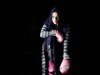 پیروزی صدف خادمی اولین بوکسور زن ایران در فرانسه