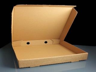 سرو پیتزا در کاغذ های 3 بار بازیافت شده