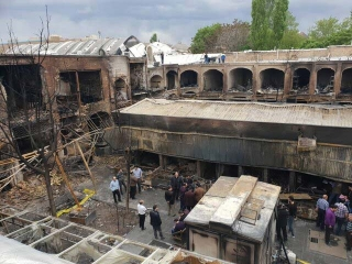 خسارت 20 میلیاردی آتش به بازار جهانی تبریز