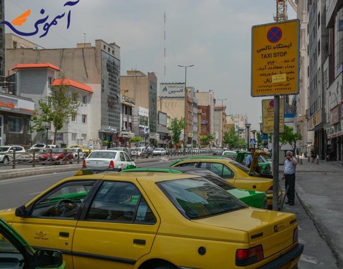 پایانه تاکسی پل مدیریت - سعادت اباد
