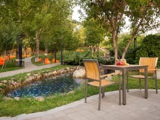 ایده طراحی و محوطه سازی باغچه رستوران