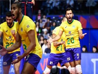 لیگ ملت های والیبال ؛ ایران 2 - 3 برزیل ؛ باختی ناباورانه