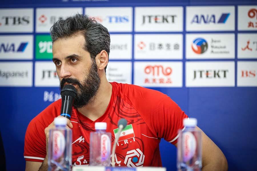 کاپیتان تیم ملی والیبال مصدوم شد - Captain of the national volleyball team was injured