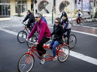 ورود و تردد دوچرخه در خط ویژه ممنوع است